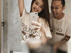 Khánh Linh The Face gây shock với bức ảnh bạn trai sờ vòng 3 trong nhà vệ sinh