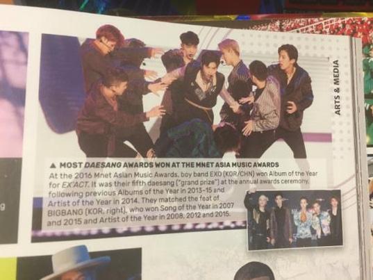 EXO chính thức ghi tên mình vào sách kỷ lục thế giới Guinness