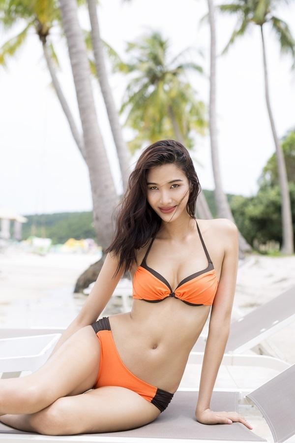 Ảnh chế Hoàng Thùy thi Hoa hậu Hoàn vũ Việt Nam mặc váy hoa dâm bụt và ứng xử bằng ca dao-2