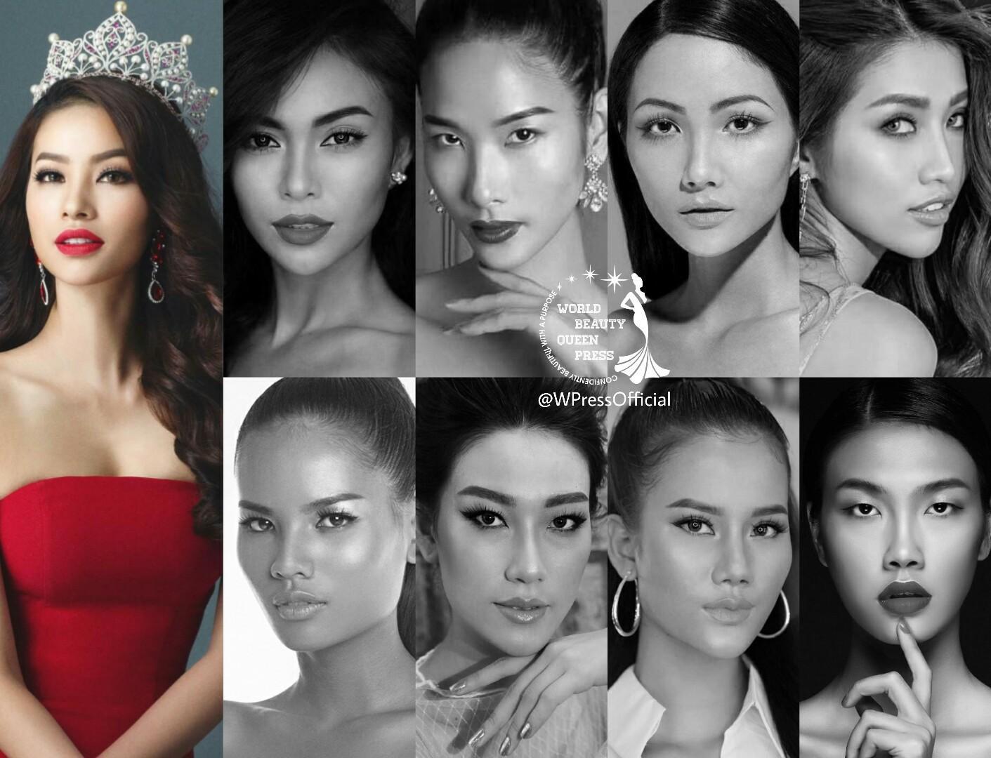 Hoa hậu Hoàn vũ Việt Nam 2017 bị bao vây bởi dàn ngôi sao Vietnams Next Top Model-11