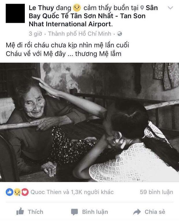 Phạm Hương, Tuyết Lan gửi lời chia buồn sâu sắc khi hay tin bà người mẫu Lê Thúy qua đời-1