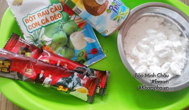Cách làm bánh trung thu thạch rau câu vị cà phê, cốt dừa-1