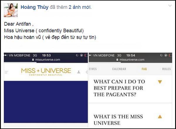 Bị chê không có vẻ đẹp hoa hậu, Hoàng Thùy lấy tiêu chí Miss Universe dạy dỗ anti-fan-3