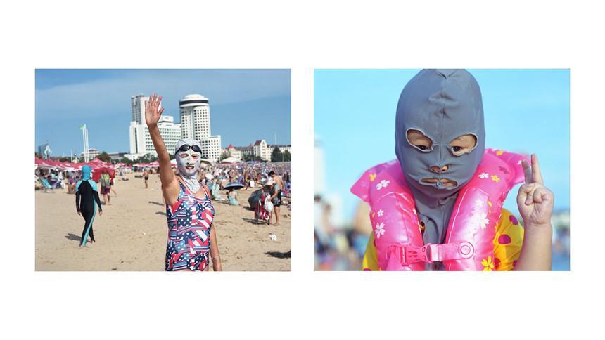 Áo tắm che kín mặt: Đặc sản ở bãi biển Trung Quốc-6