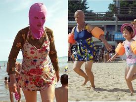 Áo tắm che kín mặt: 'Đặc sản' ở bãi biển Trung Quốc
