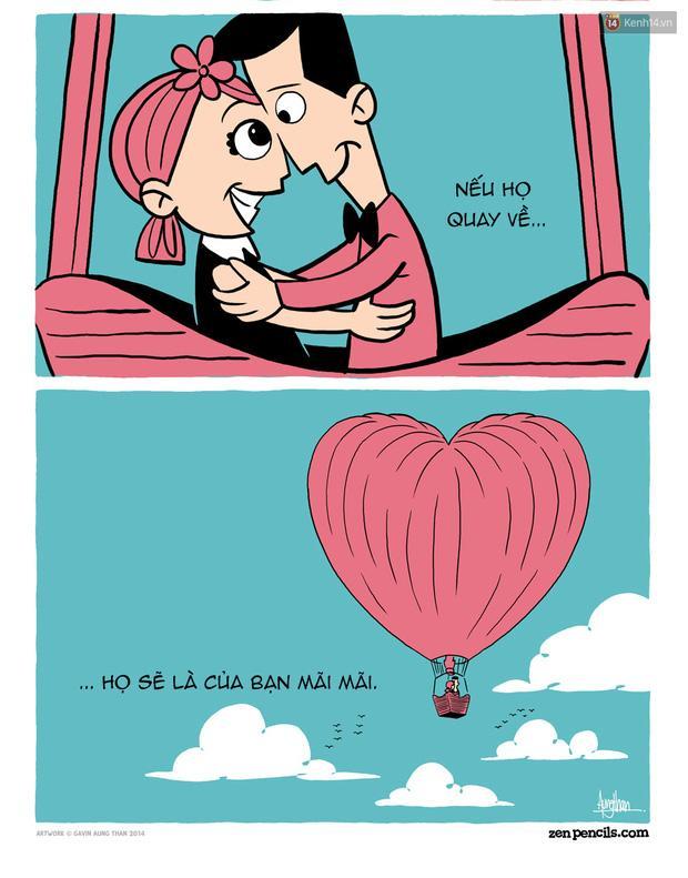 Bộ tranh: Khi bạn yêu ai đó, hãy để họ tự do-7