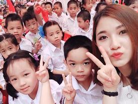 Chân dung cô giáo xinh đẹp hot nhất mạng xã hội trong lễ khai giảng