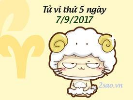 Tử vi thứ 5 ngày 7/9/2017 của 12 cung hoàng đạo
