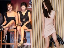 Lạm dụng váy siêu ngắn, sao khổ sở cúi không được - ngồi cũng chẳng xong