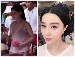 Phạm Băng Băng lại gây 'bão' với loạt ảnh diện váy áo mỏng tang lộ nội y