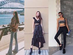Bộ ba chân dài Tú Hảo - Ánh Quỳnh - Tường Linh đồng loạt khoe 'street style' cực bắt mắt