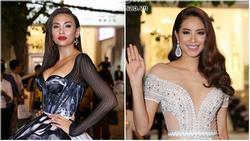 Diện váy in hình mình, Võ Hoàng Yến 'chặt đẹp' Phạm Hương trên thảm đỏ Next Top