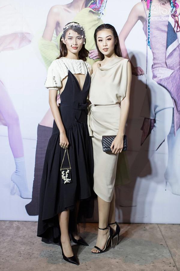 Diện váy in hình mình, Võ Hoàng Yến chặt đẹp Phạm Hương trên thảm đỏ Next Top-14