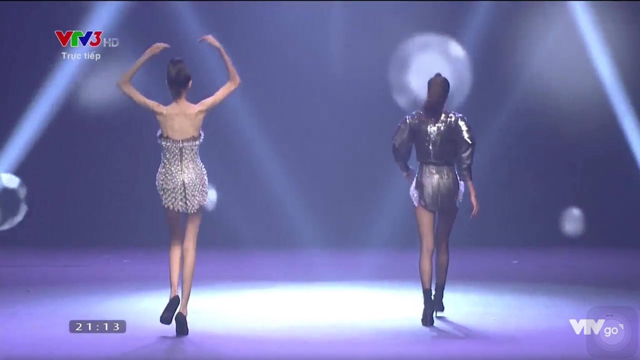 Cao Ngân như bộ xương di động đi catwalk trong đêm chung kết Next Top mùa All Stars-4