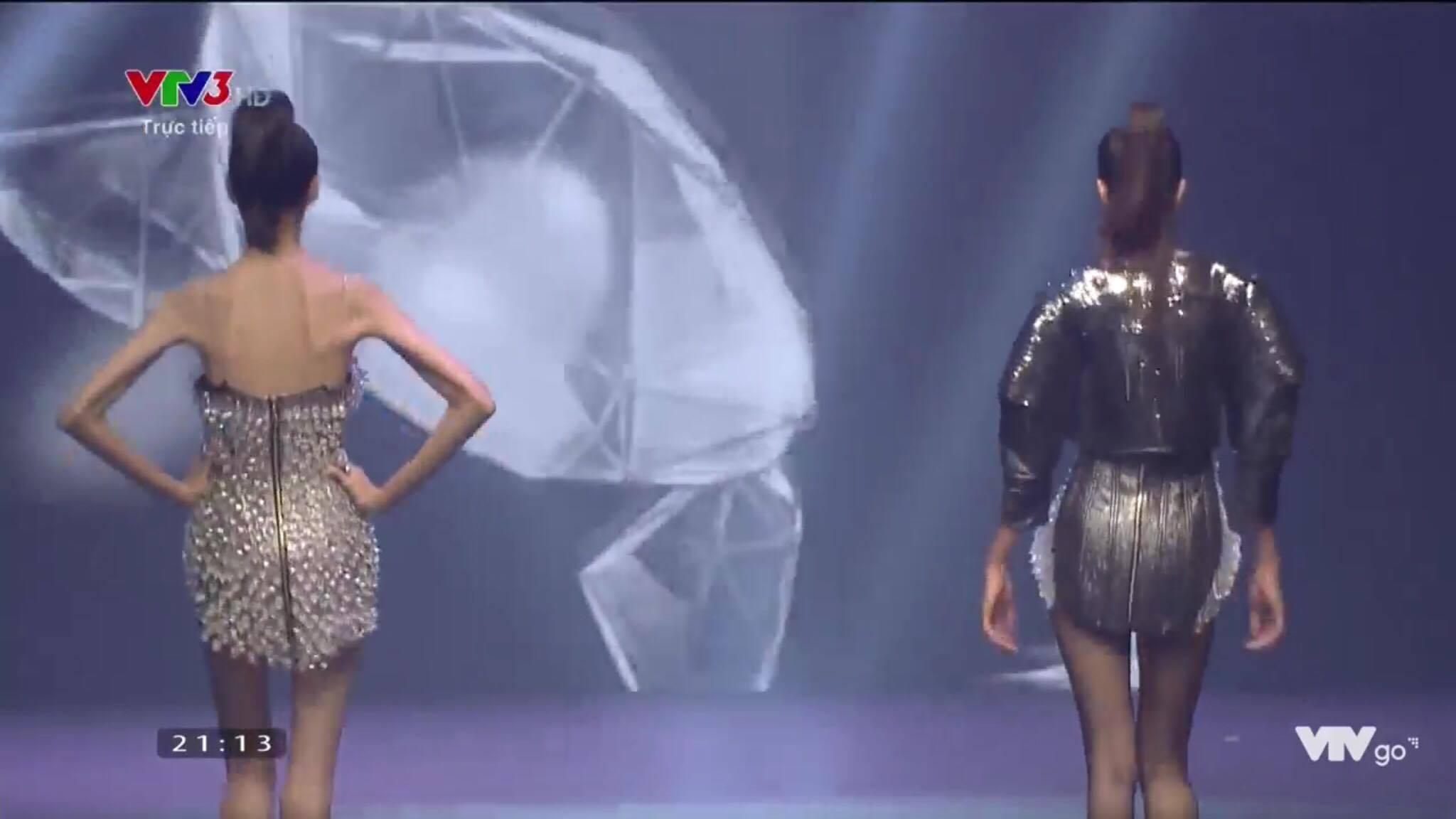 Cao Ngân như bộ xương di động đi catwalk trong đêm chung kết Next Top mùa All Stars-9