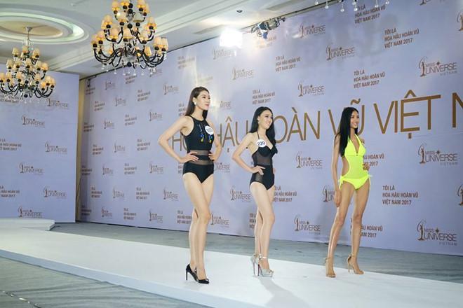 Hoàng Thùy diện bikini nổi bật ở Hoa hậu Hoàn vũ Việt Nam-1