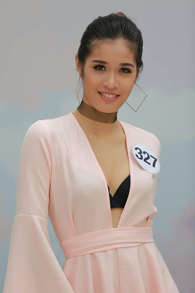 Cao Ngân bất ngờ xuất hiện tại vòng sơ khảo phía Nam Hoa hậu Hoàn vũ Việt Nam 2017-9