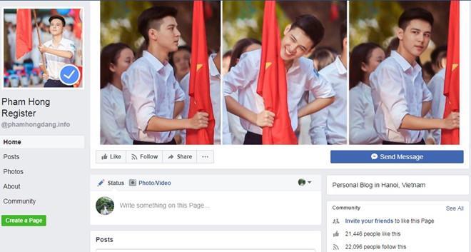 Hot boy cầm cờ bức xúc khi liên tiếp bị giả mạo Facebook-2