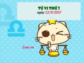 Tử vi thứ 3 ngày 12/9/2017 của 12 cung hoàng đạo