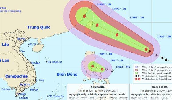 Thời tiết 12/9: Siêu bão cùng áp thấp hoạt động sát biển Đông-1
