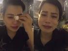 Vợ Xuân Bắc bất ngờ livestream khóc trên trang cá nhân