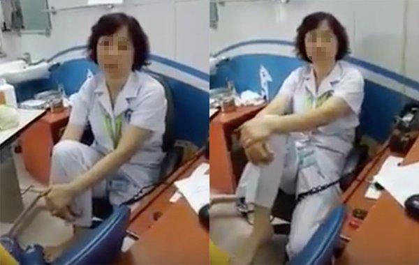 Gác chân lên ghế nói chuyện, nữ tiến sĩ Bệnh viện Mắt bị tạm dừng chuyên môn-1
