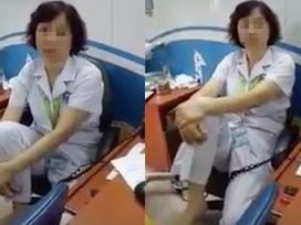Gác chân lên ghế nói chuyện, nữ tiến sĩ Bệnh viện Mắt bị tạm dừng chuyên môn