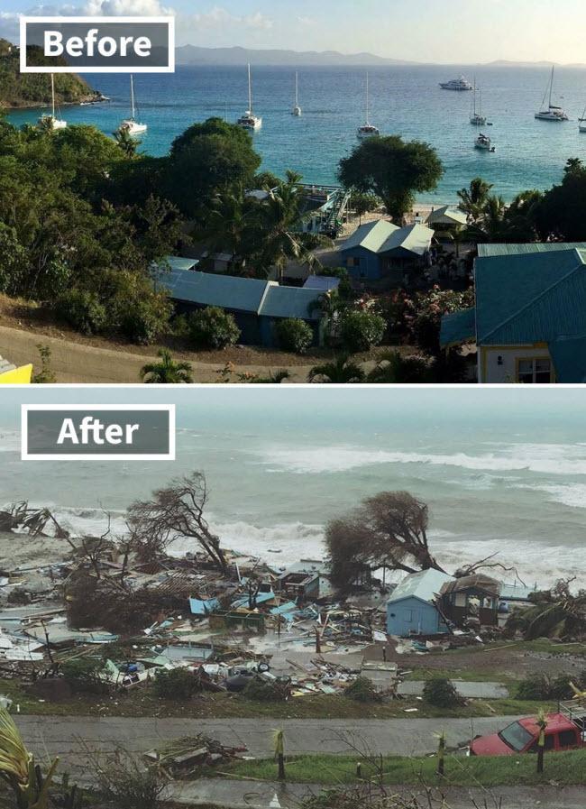 Hình ảnh sốc về những điểm du lịch nổi tiếng trước và sau bão siêu Irma-1