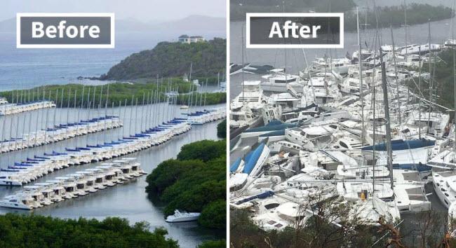 Hình ảnh sốc về những điểm du lịch nổi tiếng trước và sau bão siêu Irma-2