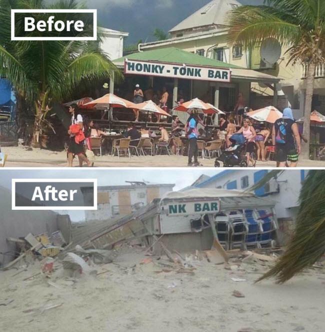 Hình ảnh sốc về những điểm du lịch nổi tiếng trước và sau bão siêu Irma-3