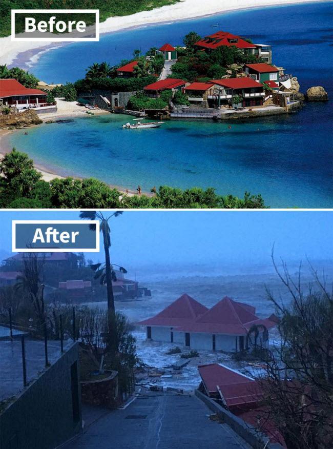 Hình ảnh sốc về những điểm du lịch nổi tiếng trước và sau bão siêu Irma-8