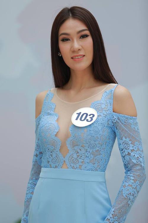 Hoàng Thùy - Mâu Thủy phong cách đối lập trong ngày thi phỏng vấn Hoa hậu Hoàn vũ-8