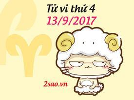 Tử vi thứ 4 ngày 13/9/2017 của 12 cung hoàng đạo
