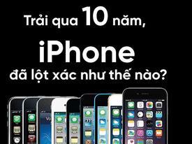 Trải qua 10 năm, iPhone đã lột xác như thế nào?