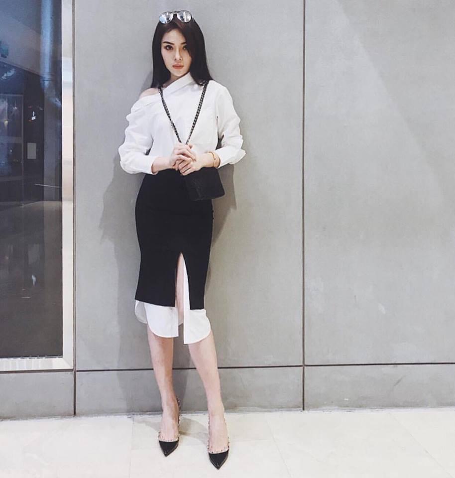 Cứ đen - trắng mà diện, street style của Kỳ Duyên vươn lên top sao mặc đẹp nhất tuần này-2
