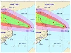 Bão số 10 giữ nguyên hướng di chuyển, cảnh báo cấp 4 khu vực Nghệ An - Quảng Bình