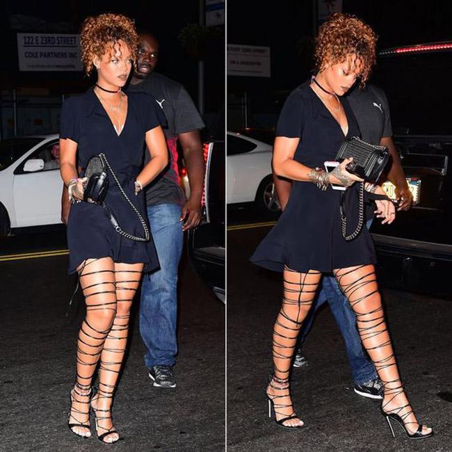 Đôi giày mỗi lần đi là phát khổ phát sở, nhưng vì sexy Rihanna vẫn cắn răng chịu đựng-5