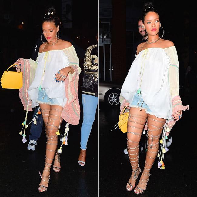 Đôi giày mỗi lần đi là phát khổ phát sở, nhưng vì sexy Rihanna vẫn cắn răng chịu đựng-7