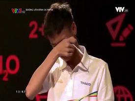Thí sinh được phong 'thánh' khóc trong cuộc thi mở màn 'Đường lên đỉnh Olympia'
