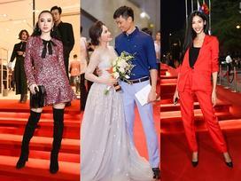 Bảo Thanh rạng rỡ sánh vai cùng chồng, đứng đầu top thời trang thảm đỏ đẹp nhất tuần