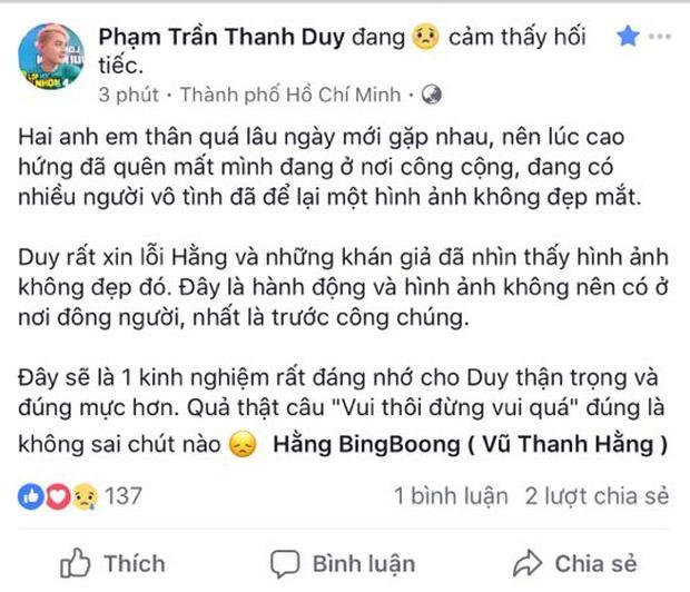 Thanh Duy bị chỉ trích vì bàn tay hư hỏng trên vòng 1 Hằng BingBoong-3