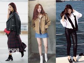Park Shin Hye - Jessica diện street style cực chất trong Tuần lễ thời trang New York