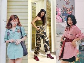 'Bộ ba sát thủ' An Japan - Quỳnh Anh Shyn - Mẫn Tiên 'lên đồ' cực chất như fashionista