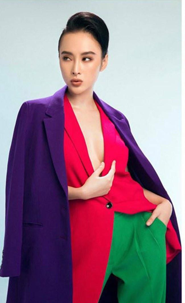 Kỳ Duyên, Angela Phương Trinh lại quên nội y khi mặc vest-3