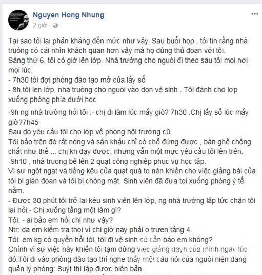 Vợ Xuân Bắc tung bằng chứng tố cáo NSND Anh Tú chèn ép, nhà trường dùng thủ đoạn-13