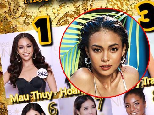 Mâu Thủy chiếm thế thượng phong tại Hoa hậu Hoàn vũ Việt Nam 2017