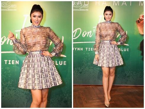 Chán dùng đồ hiệu, Huỳnh Tiên chuyển sang mặc đồ thiết kế 10 triệu đồng/ bộ