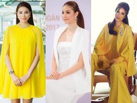 Hoa hậu Phạm Hương đang bị áo dáng cape 'mê hoặc' trong mọi lần xuất hiện