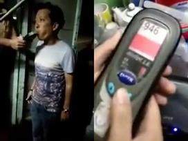 Clip: CSGT kiểm tra nồng độ cồn của Trường Giang, kết quả vượt ngưỡng cho phép