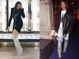 Trong vô vàn fashionista Việt, có lẽ chỉ mình Nga Nguyễn dám chi 230 triệu đồng sắm đôi boot 'đụng hàng' Rihanna